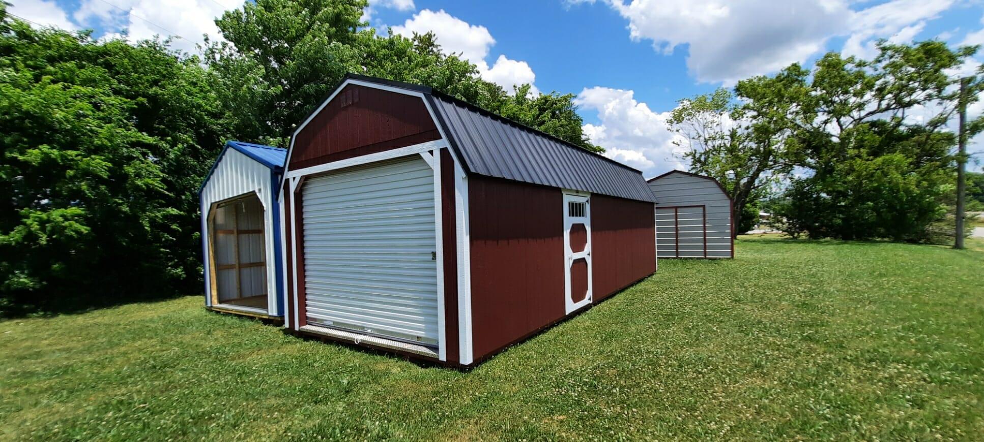 12 x 28 Lofted Garage- PWB430